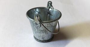 Metal Garden Bucket, Dolls House Miniature, Miniatures 1:12th Scale
