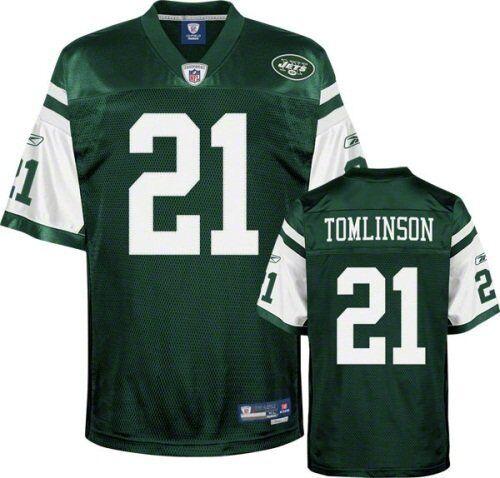 NFL FOOTBALL MAGLIA JERSEY NEW York Jets NY LaDainian Tomlinson 21 VERDE Premier