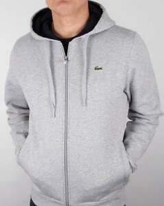 246a506ccf67 Lacoste Hoody in Light Grey   Navy - hoodie hooded sweat full zip ...