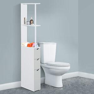 Homcom bagno armadio di stoccaggio armadio sottile unit for Armadio bagno bianco