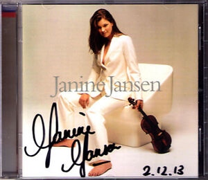 Janine-JANSEN-Signiert-VAUGHAN-WILLIMS-Lark-Ascending-RAVEL-Tzigane-Schindler-CD