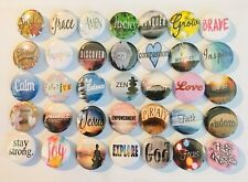 "Inspirational button pins. Lot of 25. More than +100 designs. 1"" inch buttons A+"