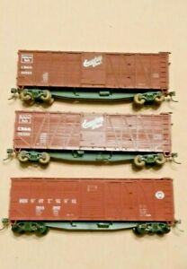 HO-Scale-Branchline-Trains-CB-amp-Q-and-PRR-40-039-Outside-Braced-Wood-Boxcars