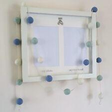 Baby Boy Garland,Blue Felt Ball Garland,Baby Boy Nursery Decor,Boys Nursery,Eco