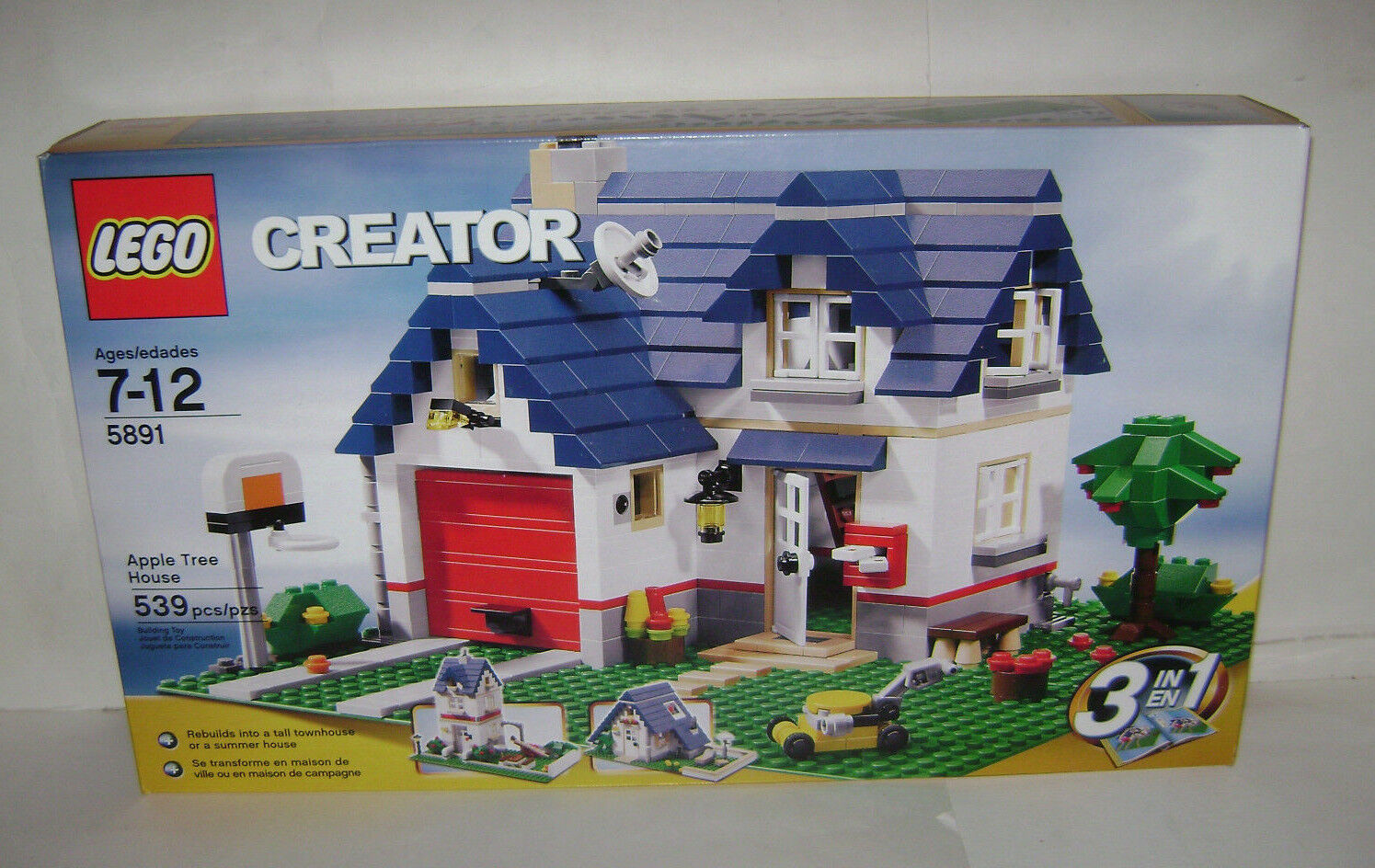nouveau 5891 Lego CREATOR Apple Tree House 3 in  1 Building Toy SEALED BOX RETIrouge A  abordable