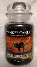 Yankee Candle Happy Halloween Large Jar 22 oz  Black Licorice Scent - New!