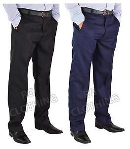 Men-039-s-big-size-casual-formelle-qualite-pantalon-jambes-29-034-et-31-034-Taille-30-50