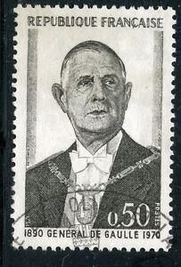 STAMP-TIMBRE-FRANCE-OBLITERE-N-1698-GENERAL-DE-GAULLE