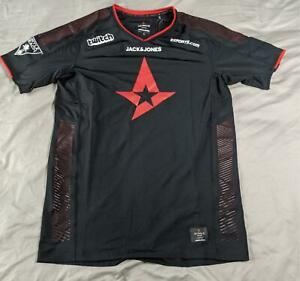 Jack-amp-Jones-Men-039-s-S-S-Astralis-E-Sport-Official-T-Shirt-HD3-Black-Medium-NWT