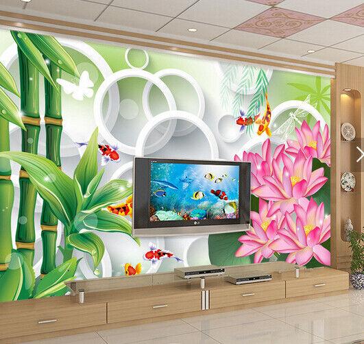 3D Bambus Blumen 699 Tapete Tapeten Mauer Foto Familie Tapete Wandgemälde DE