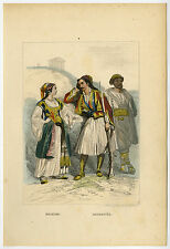 Antique Print-COSTUME-DRESS-GREECE-DALMATIA-CROATIA-Rouargue Freres-1866