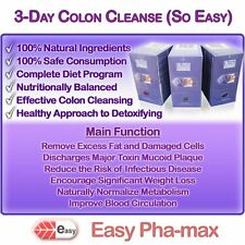 Easy Pha-max So Easy 3 Days Colon Cleanse, Natural Detox, 100% Safe & Effective