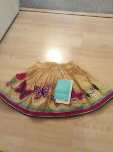 Monsoon-girls-skirt-3-6-months-Mustard-Butterfly-BNWT