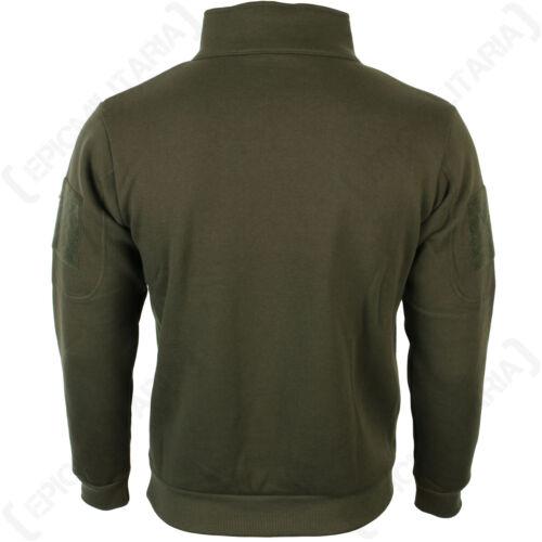 Ranger Green Sweatshirt with Zipper High collar headphone outlet patch Army