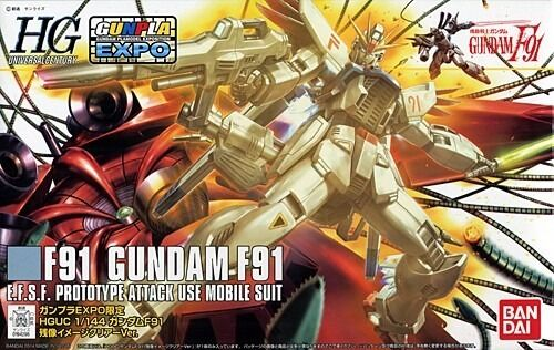 BANDAI HGUC 1 144 Gundam F91 CLEAR Ver Plastic Model Kit Gundam EXPO Limited NEW