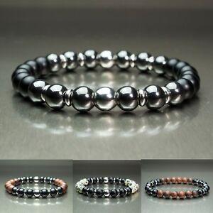 Bracelet homme perle acier