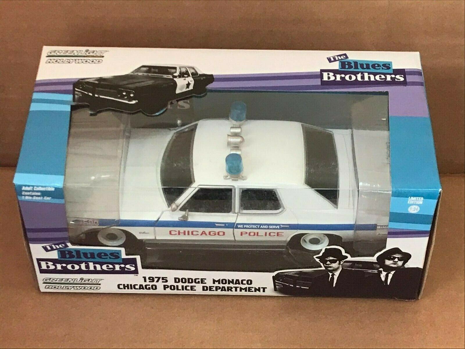 Greenlight Hollywood Diecast - The bluees Bredhers 1975 Dodge Monaco 1 24 scale