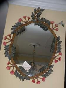 Details about brass photo frame vintage ornate oval frame victorian - Carvers Guild 1170 Hummingbird And Trumpet Vine Hand