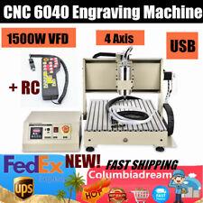 Usb 4 Axis 6040 15kw Cnc Router Engraver Engraving Milling Machine 3d Engraver