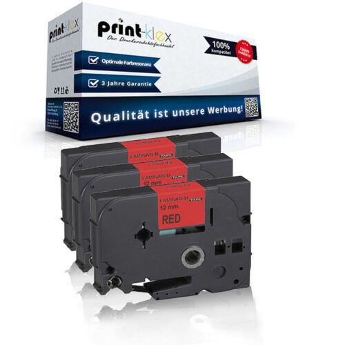 Drucker Pro Serie 3x Alternative Schriftbänder für Brother TZE431 Nylonband TTR
