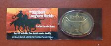 Vintage Marlboro Longhorn Belt Buckle  Solid Brass 1987 Philip Morris In Package