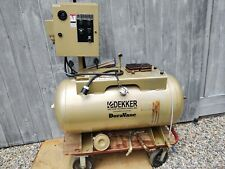 Used Dekker Air Compressor Receiver Tank 60 Gallon Horizontal And Starter Panel