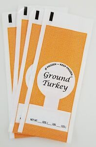 GROUND BEEF MEAT FREEZER CHUB RETAIL BAGS 1LB 200 COUNT FREE SHIPPING SIB SUPPLY