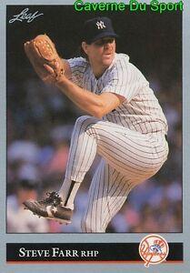 020 STEVE FARR NEW YORK YANKEES BASEBALL CARD LEAF 1992 eUi3SWr7-08021807-883539111