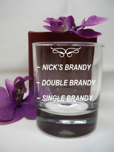 PERSONALISED ENGRAVED WHISKEY// SPIRIT GLASS SINGLE//DOUBLE MEASURE//DRINK BIRTHDAY