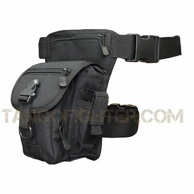 CONDOR #219 Cross Over Drop Leg Rig Magazine Dump Utility Pouch BLACK