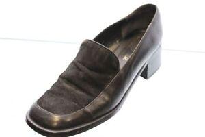 Manfield-Schuhe-schwarz-Leder-Slipper-Gr-38-UK-5