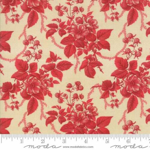 Cinnaberry Fabric by 3 Sisters #44202-12 Winter Blooms  Premium Cotton
