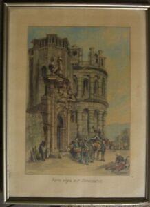 PORTA-NIGRA-SIMEONSTOR-TRIER-1932-AQUARELL-amp-TUSCHE-C-CHRISTIANSEN-SIGNIERT