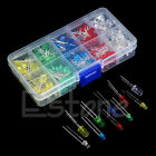 New 200Pcs 3mm 5mm LED Light White Yellow Red Blue Green Assortment Diodes Kit