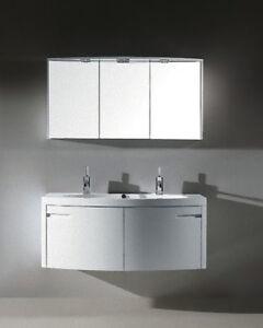 Mobile arredo bagno da 120 per lavabo specchio predisp for Specchio bagno doppio lavabo