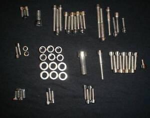 SUZUKI-RM250-1982-1985-polished-stainless-bolt-SCREW-set-kit-82-83-84-85