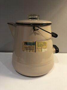 Vintage Maid Of Honor Sears Roebuck Enameled Cookware 24 Cup Coffee Pot Ebay