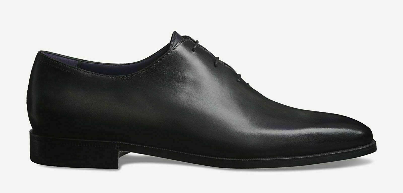 Mens Handmade scarpe Genuine nero Leather One Piece Lace Up Up Up Formal Wear avvio New ee9abe