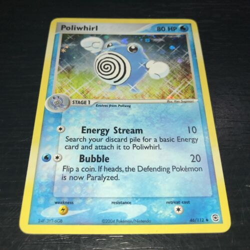 46//112 FIRE RED LEAF GREEN NM POKEMON: Poliwhirl REVERSE HOLO CARD