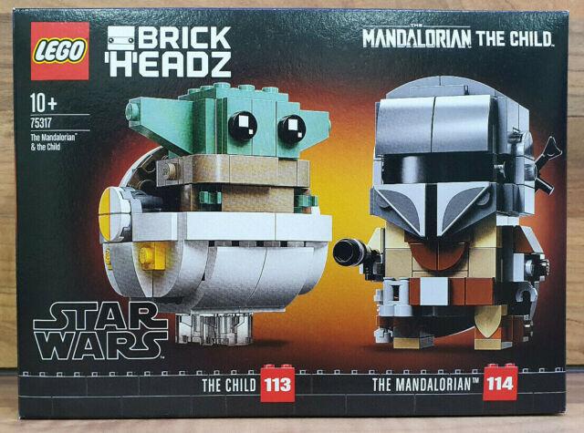 LEGO Star Wars 75317 The Mandalorian & the Child Brickheadz New Sealed Freepost
