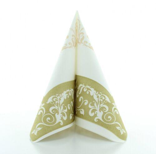 Serviette Hochzeit in Gold aus Linclass® Airlaid 40 x 40 cm 50 Stück