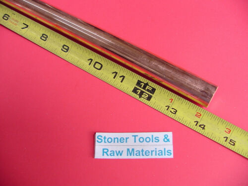"""5//8/"""" C110 COPPER ROUND ROD 14/"""" long H04 Solid .625/"""" OD CU New Lathe Bar Stock"""