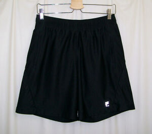 FILA-Men-039-s-Medium-M-Lined-Athletic-Shorts-Black-Running-Soccer