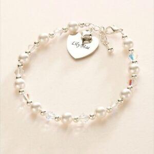 Perle Bracelet Avec Cœur Gravé Charme, Femmes & Filles Bijouterie Qlt7qwmz-08000053-792675214