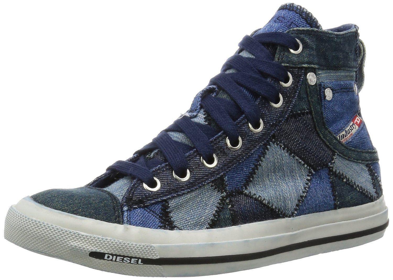 Diesel Exposure iv W Blau Weiß Demens Canvas Sneaker Schuhe