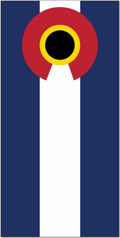 colorado Flag LAMINATED Cornhole Wrap Bag Toss Skin Decal