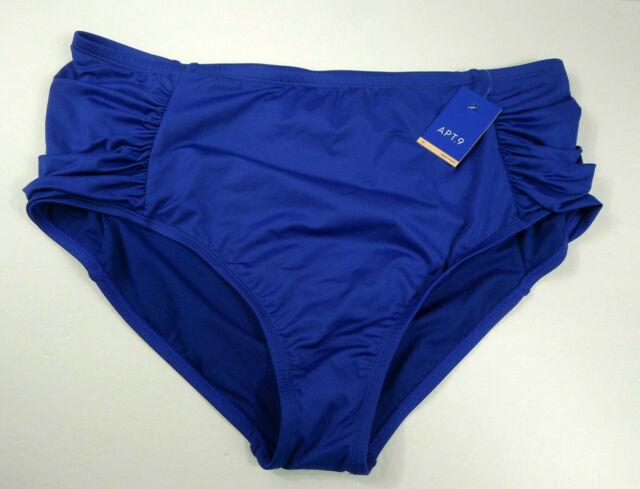 Apt  9 Kohl's High Waist Swim Bathing Suit Tankini Bottom 2x Blue Powernet