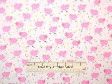 Studio E Farmyard Friends Farm Sheep Baby Pink Animal Nursery Cotton Fabric YARD