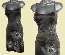 NWT Karen Millen Grey Embellished Embroidered Strappy Cocktail Dress sz10 £180
