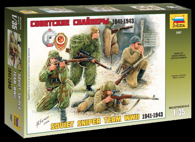 Zvezda 1//35 Soviet Sniper Team WWII Nº 3597